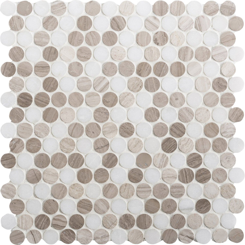 mosa que sol et mur pastille marbre blanc et moka leroy merlin. Black Bedroom Furniture Sets. Home Design Ideas
