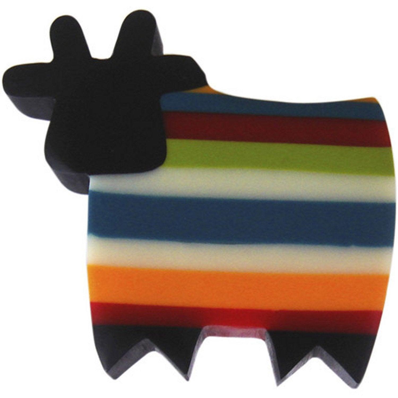 bouton de meuble vache r sine polyester mat leroy merlin. Black Bedroom Furniture Sets. Home Design Ideas