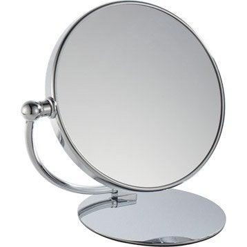 Miroir grossissant pivotant 24 x 23 5 cm leroy merlin - Miroir a coller leroy merlin ...