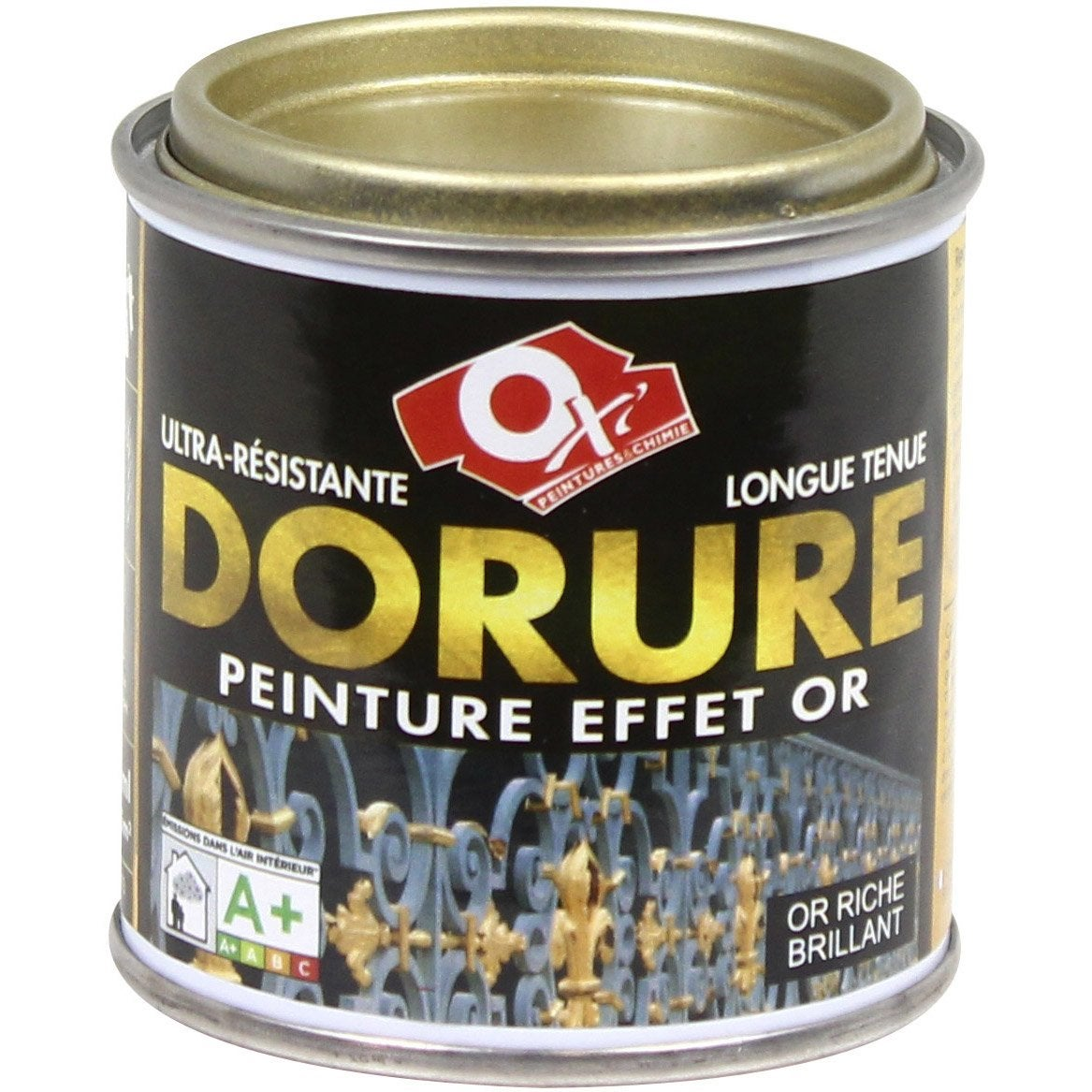 Dorure patin oxytol or riche l leroy merlin for Peindre un miroir dore