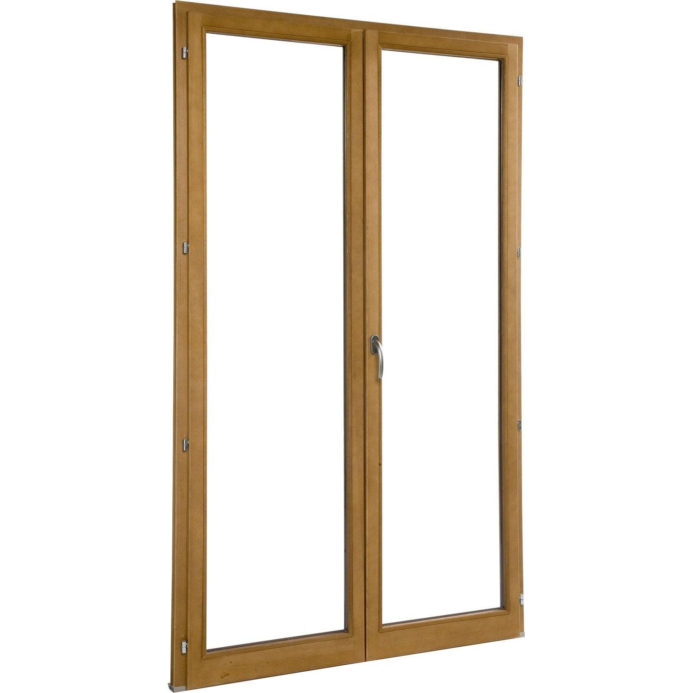 Porte fen tre en bois avec petits bois laiton incorpor s for Porte fenetre en bois