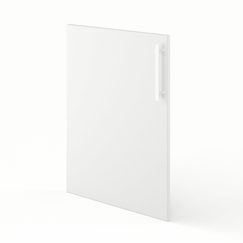 Porte de cuisine blanc d lice x cm leroy merlin for Porte 70 cm de large