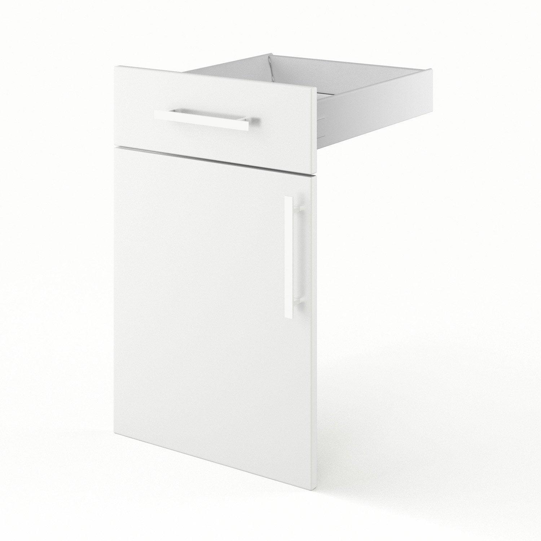 caisson de cuisine bas b45 delinia blanc l.45 x h.85 x p.56 cm ... - Meuble Cuisine Largeur 45 Cm