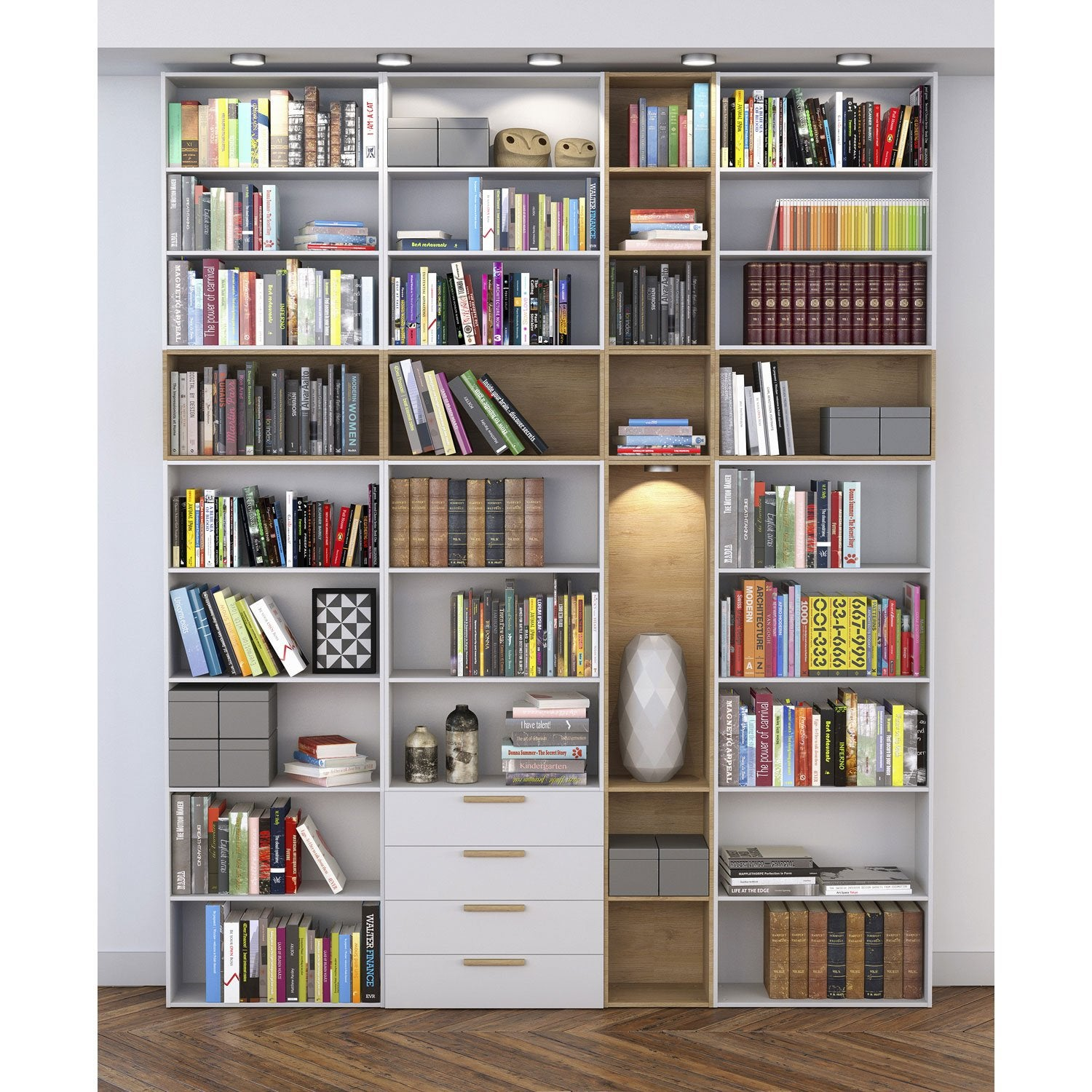 Biblioth que spaceo home effet ch ne leroy merlin - Leroy merlin tablette chene ...