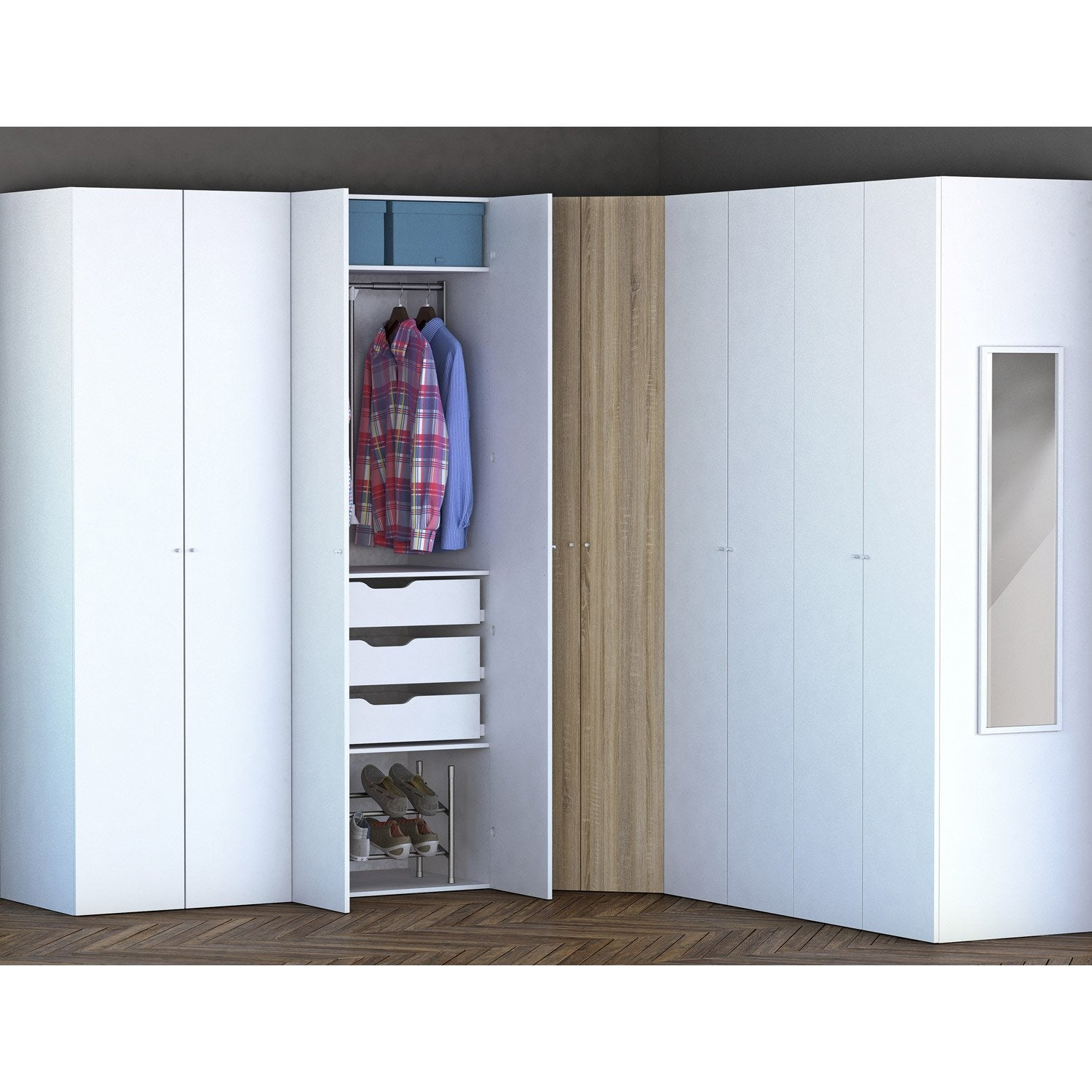 Stunning porte coulissante dressing leroy merlin with - Brico depot porte coulissante interieur ...