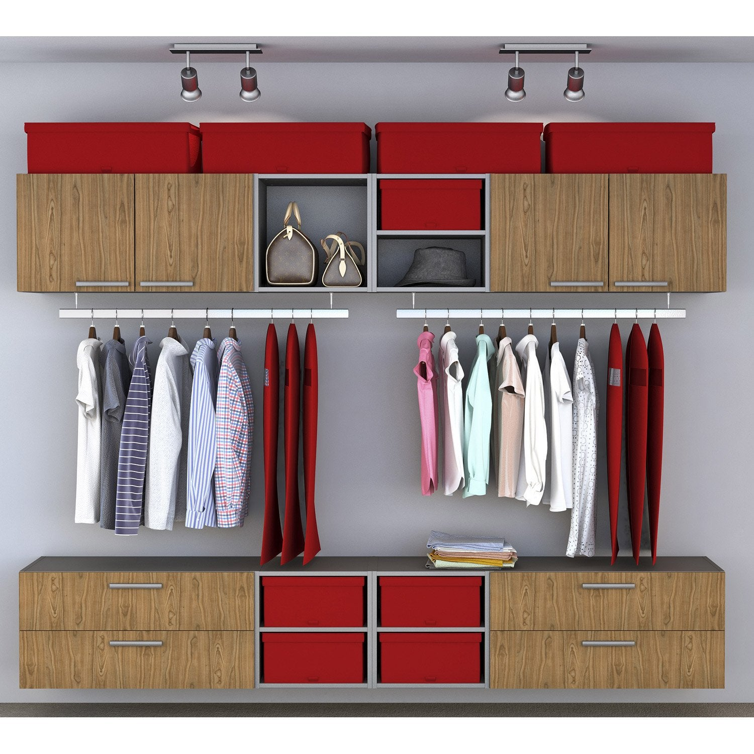 Dressing spaceo home effet ch ne leroy merlin - Tablette chene leroy merlin ...