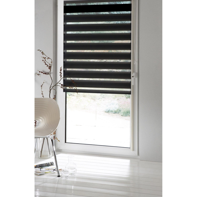 Store enrouleur jour nuit inspire noir noir n 0 41 x - Store interieur fenetre ...
