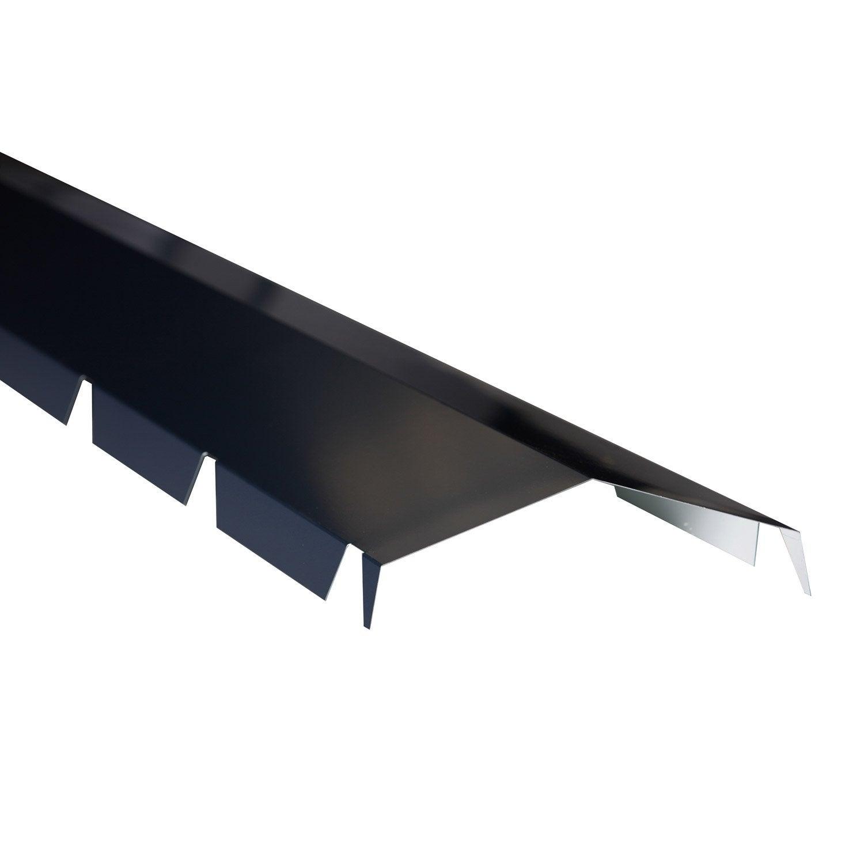 fa ti re crant e pour plaque nervur e gris l 2 1 m leroy merlin. Black Bedroom Furniture Sets. Home Design Ideas
