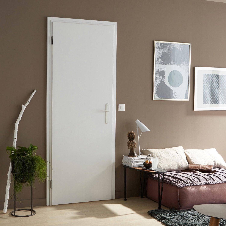 bloc porte r novation blanc easy r no artens x cm poussant gauche leroy merlin. Black Bedroom Furniture Sets. Home Design Ideas