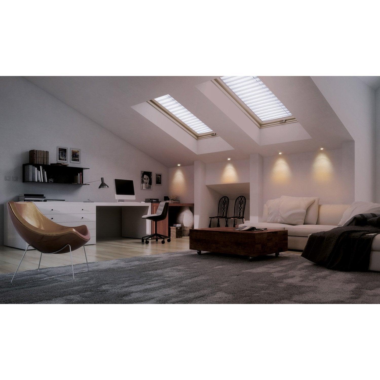 kit 1 spot encastrer eglo connect led blanc couleurs diam 17cm acier leroy merlin. Black Bedroom Furniture Sets. Home Design Ideas