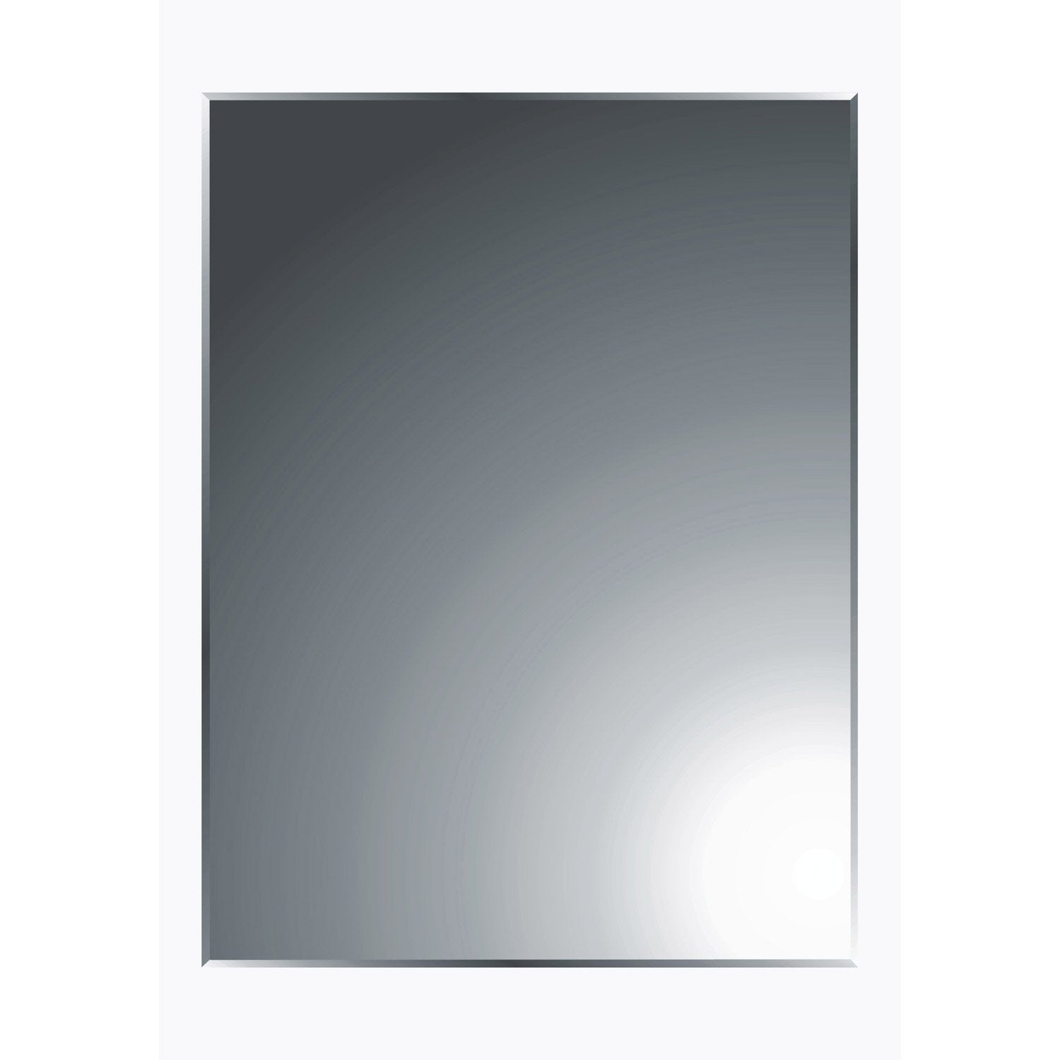 Miroir rectangle biseau 60 x for Leroy merlin decoupe miroir