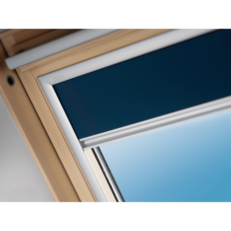 store fen tre de toit occultant bleu velux dkl m06 leroy. Black Bedroom Furniture Sets. Home Design Ideas