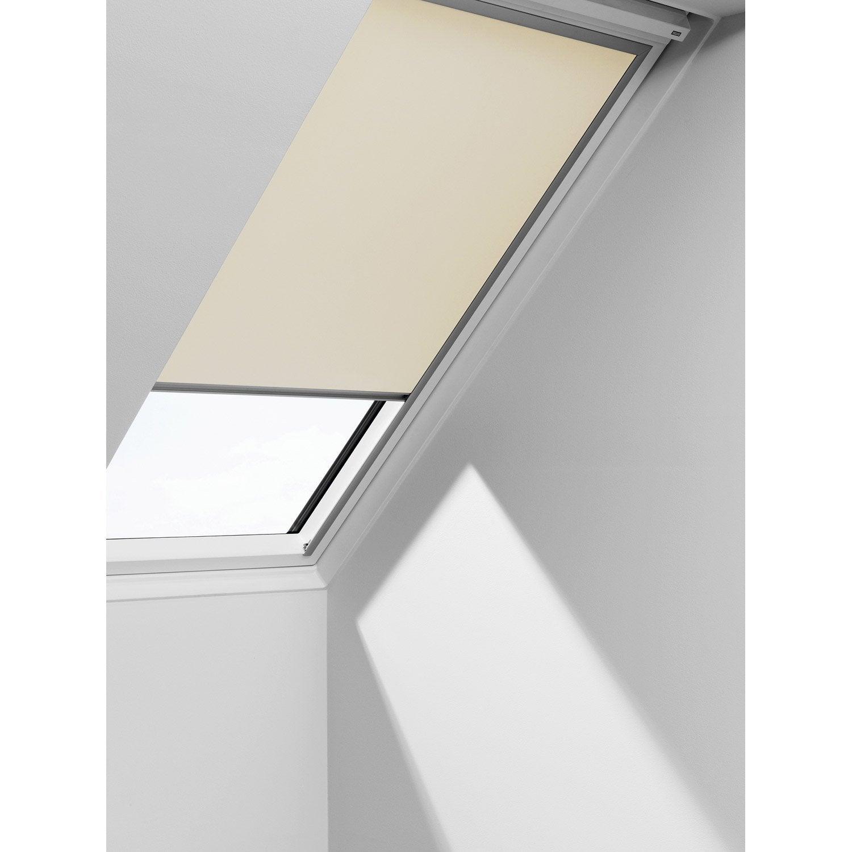 store fenêtre de toit occultant beige velux dkl 102 | leroy merlin - Store Occultant Interieur Pour Fenetre
