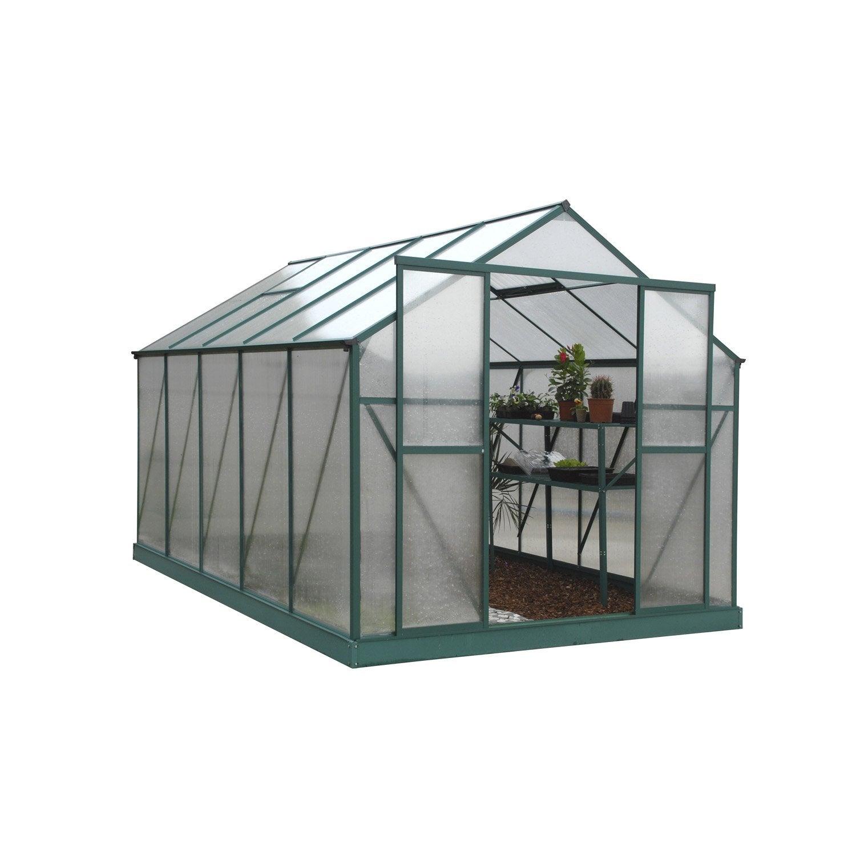 serre egt orchid e polycarbonate double parois m leroy merlin. Black Bedroom Furniture Sets. Home Design Ideas