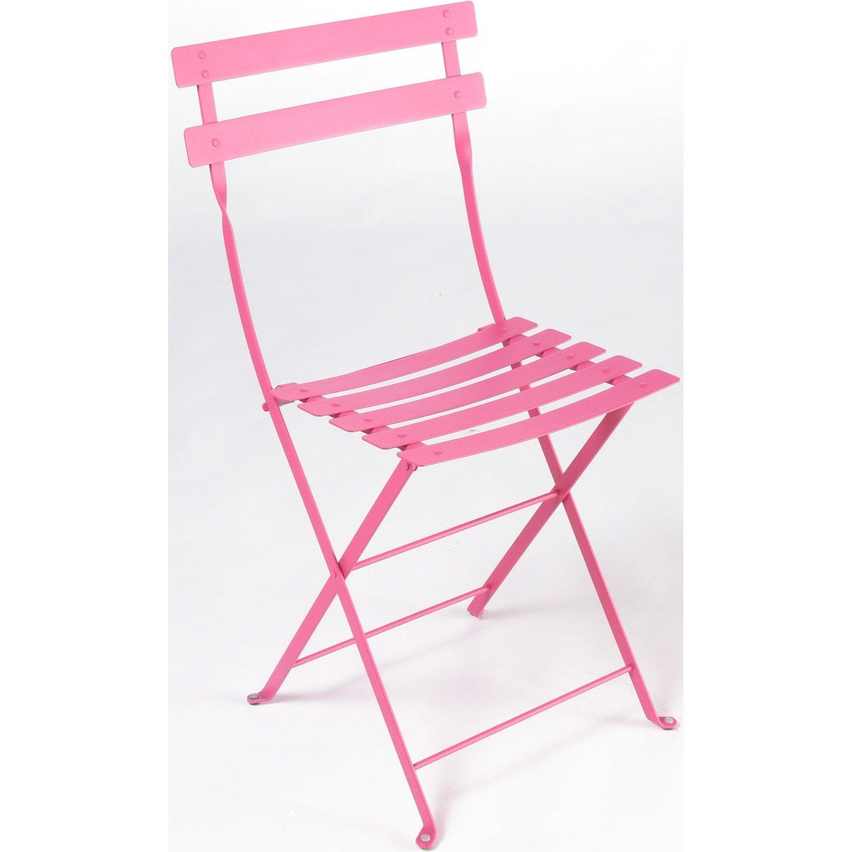 Chaise de jardin en acier bistro fuchsia leroy merlin - Chaise de jardin leroy merlin ...