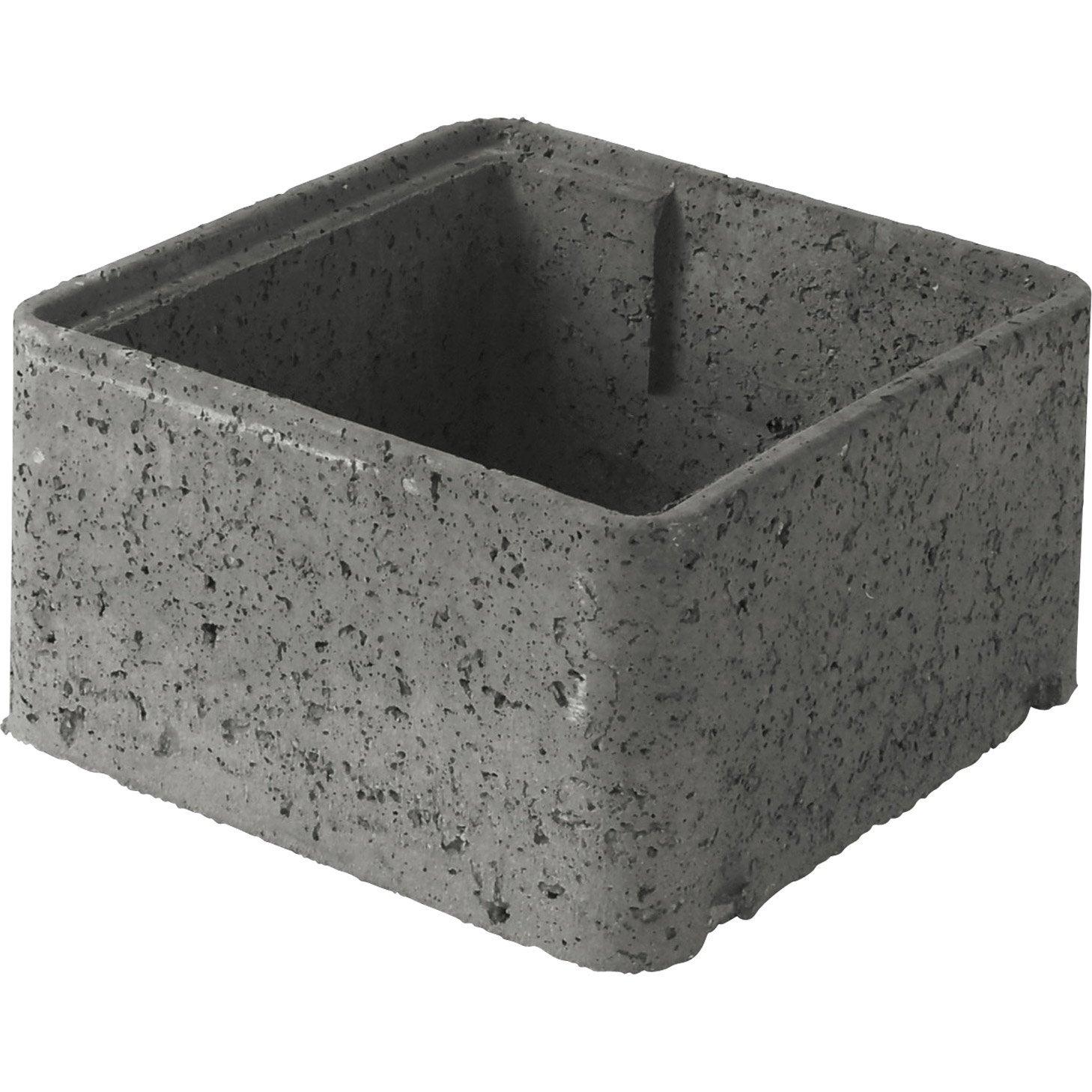 Rehausse de regard b ton 36x36x20 cm leroy merlin - Leroy merlin plot beton ...