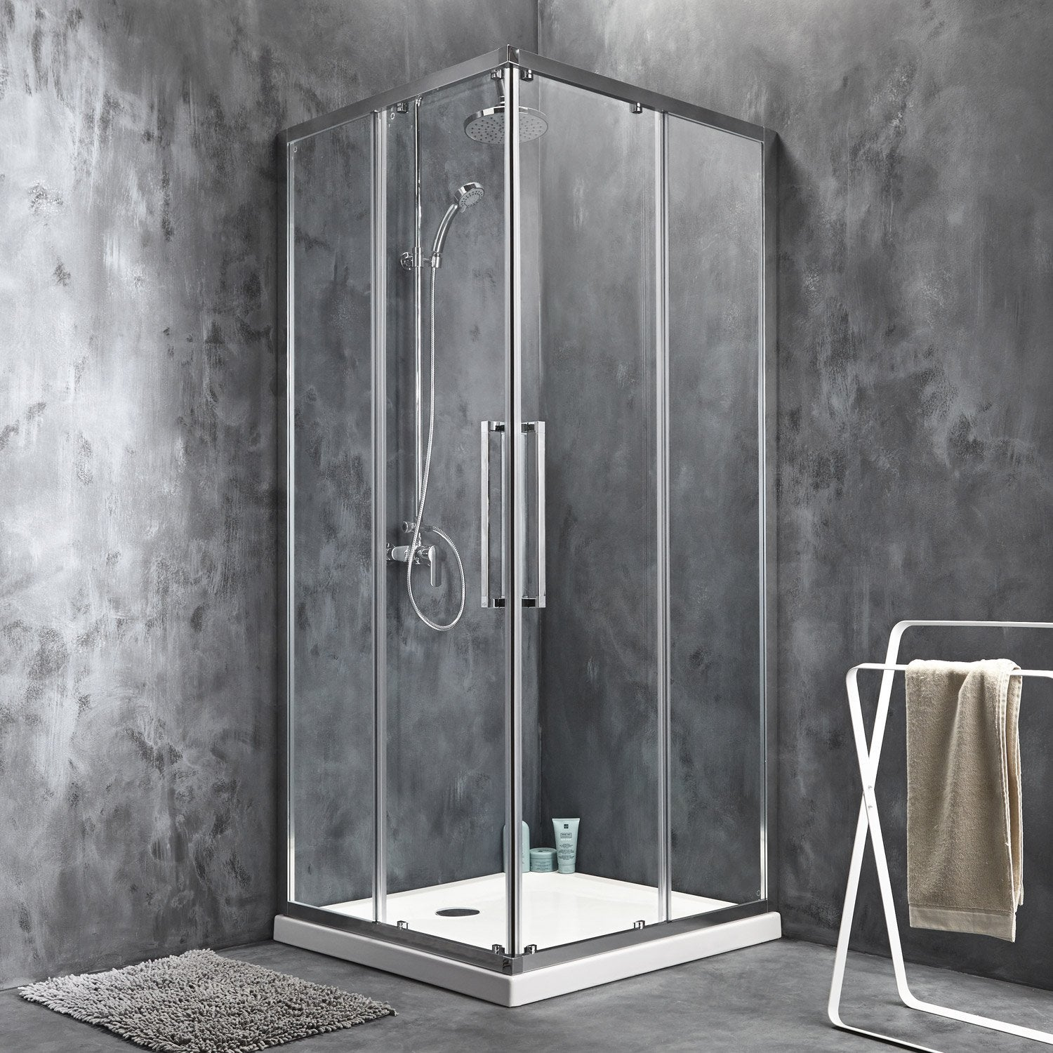 pluie x sur les portes de douche en verre heju blog. Black Bedroom Furniture Sets. Home Design Ideas