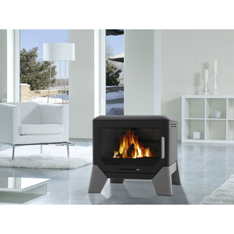 po le bois wamsler f box 8 kw leroy merlin. Black Bedroom Furniture Sets. Home Design Ideas