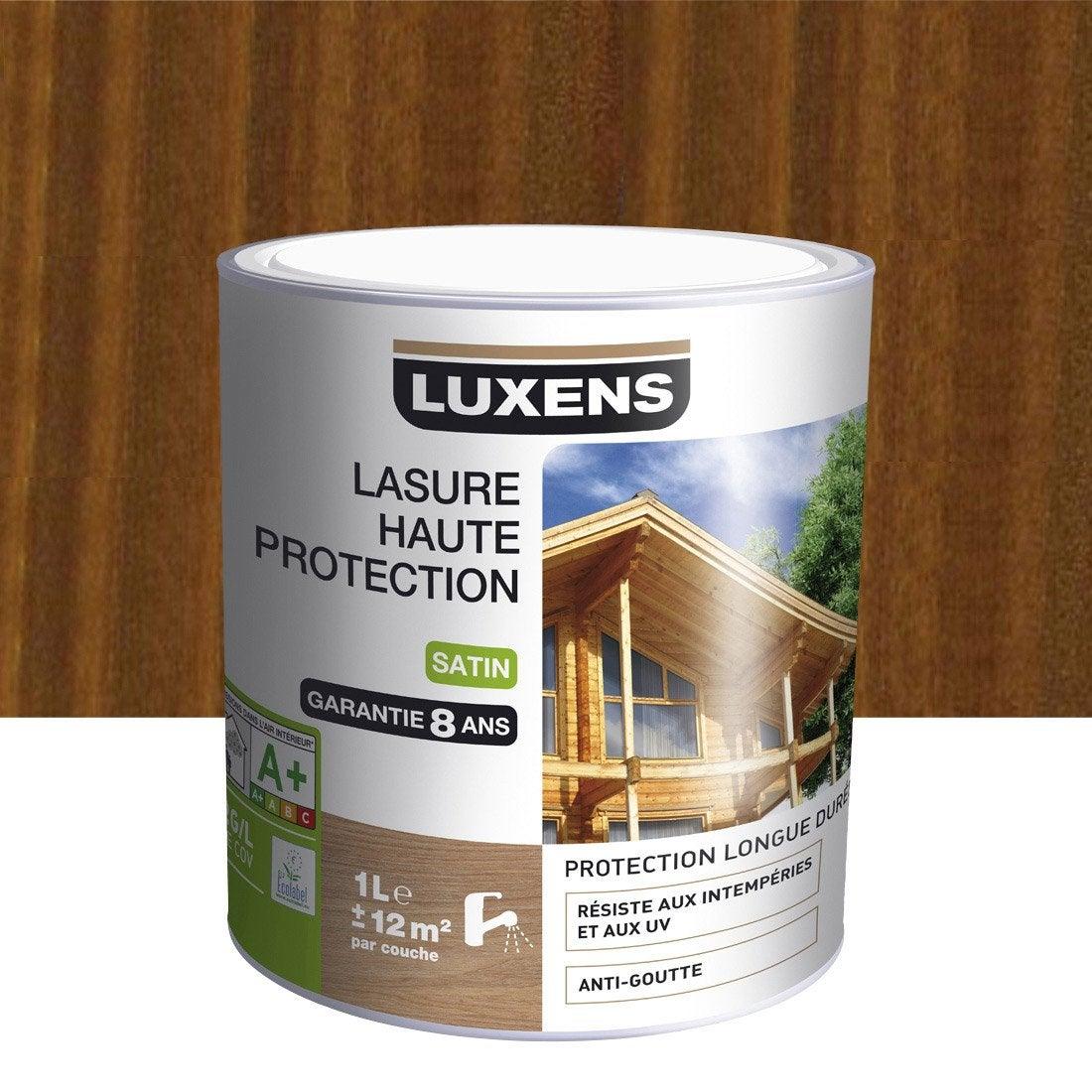 Lasure LUXENS Haute protection 1 l, bois exotique Leroy Merlin # Lasure Bois Leroy Merlin
