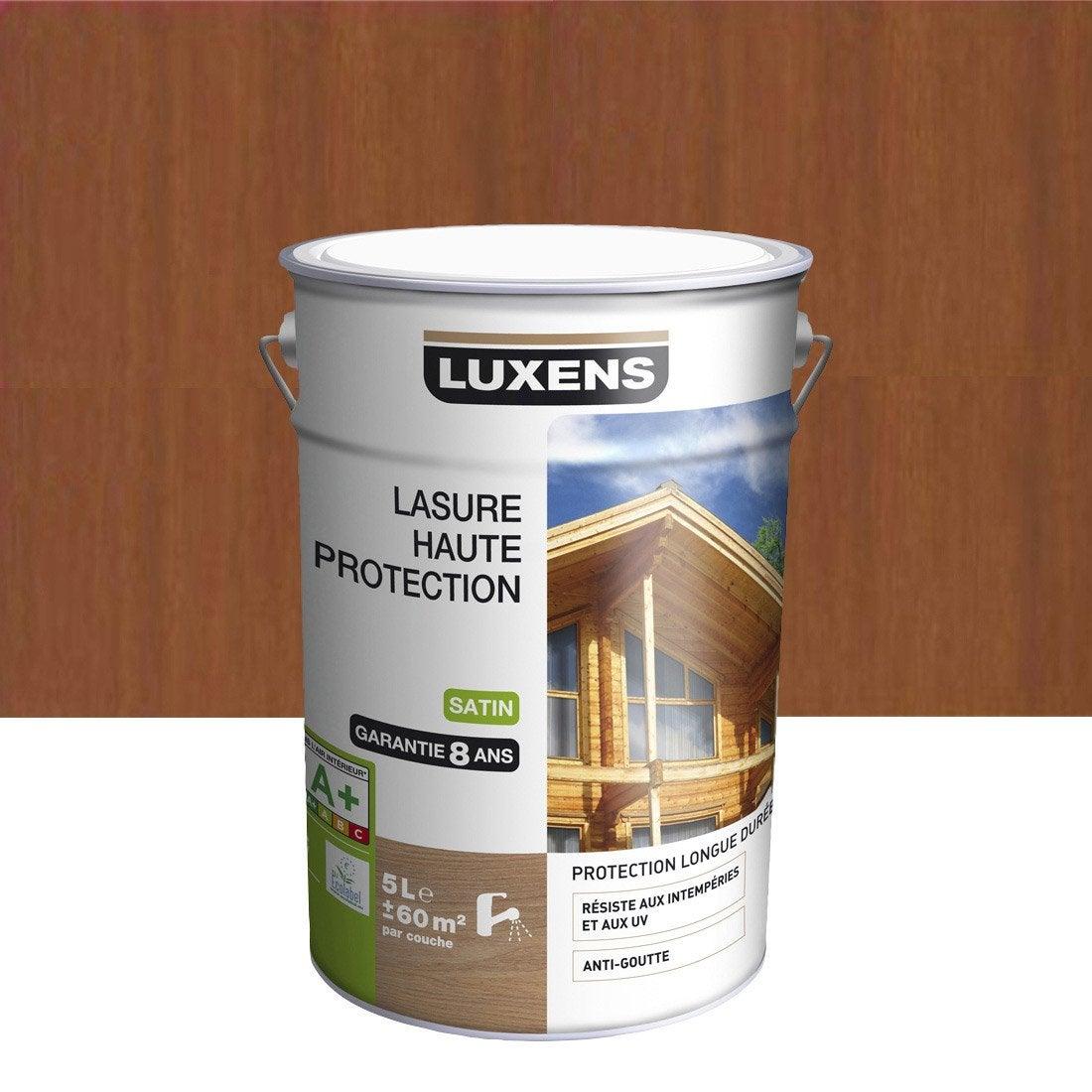 Lasure LUXENS Haute protection 5 l, bois exotique Leroy Merlin # Lasure Bois Leroy Merlin