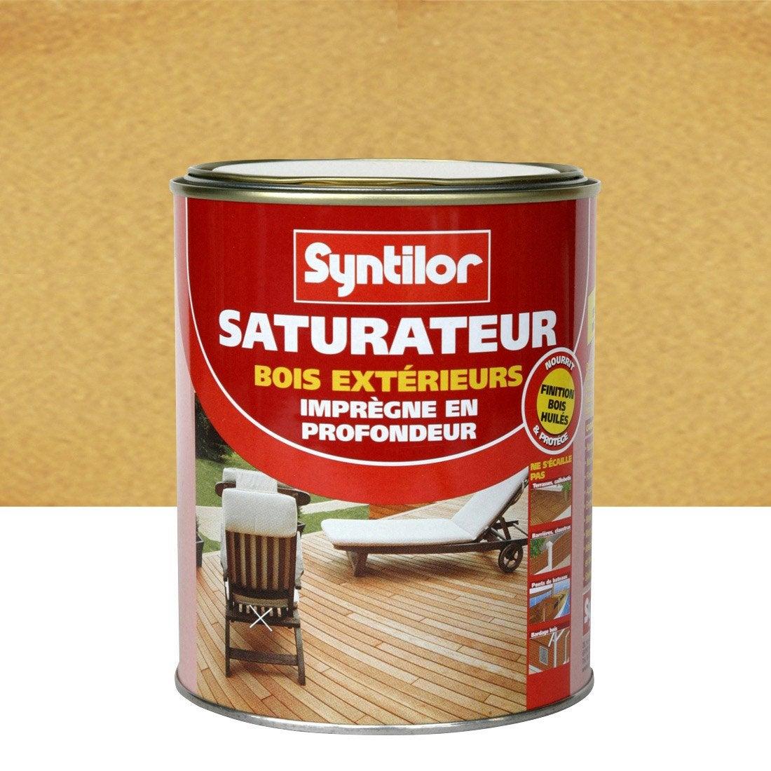 Saturateur bois syntilor incolore aspect mat 1 l leroy merlin - Saturateur bois exterieur ...