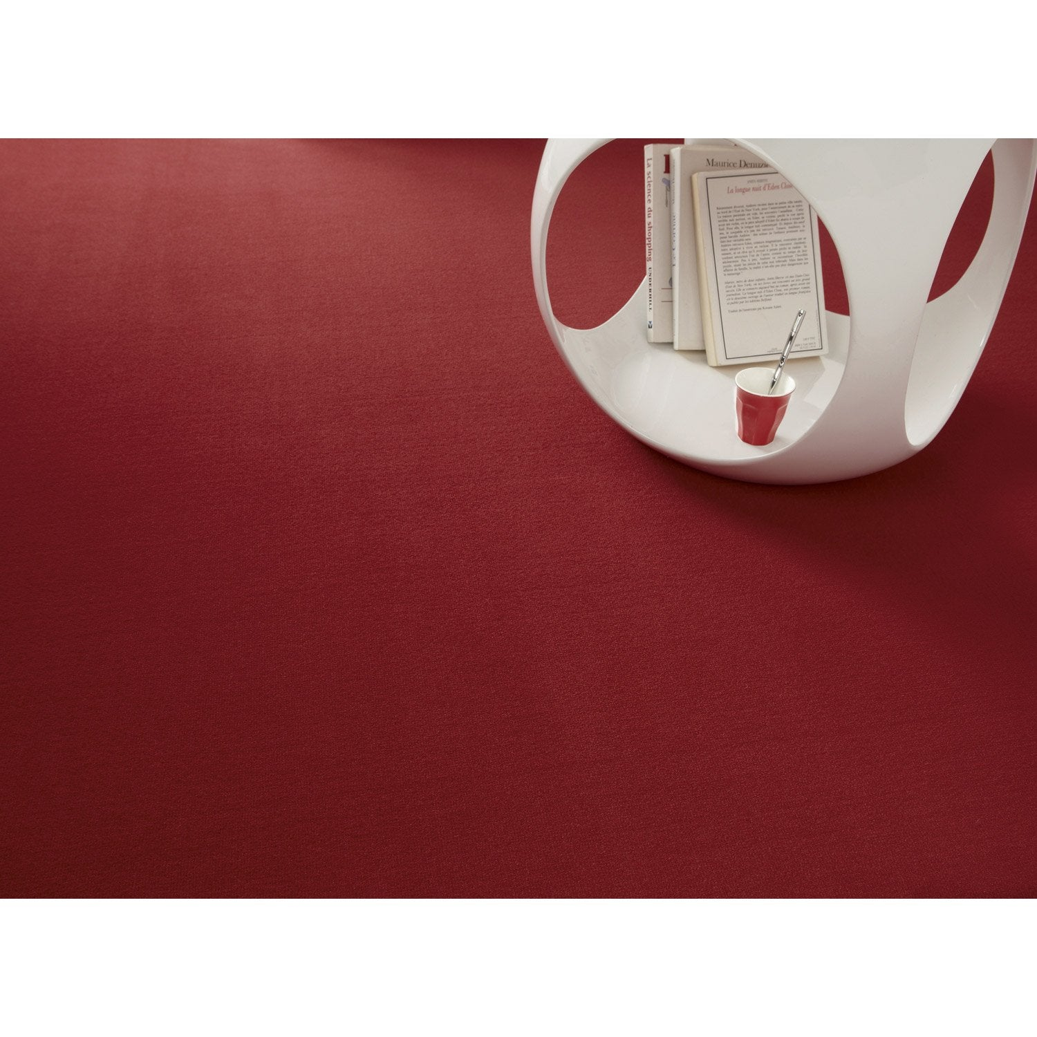 Moquette velours diapason rouge 4 m leroy merlin for Moquette rouge texture