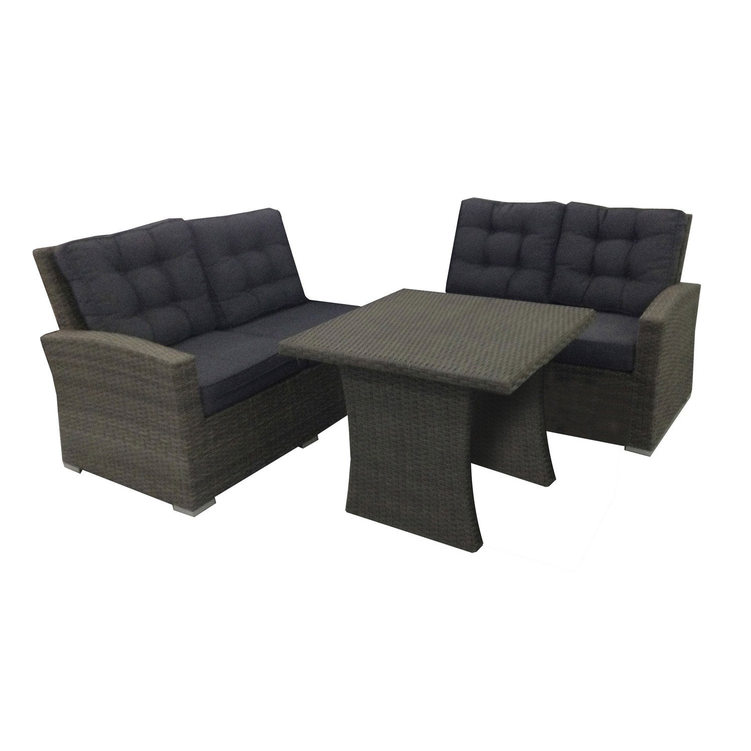 canap et table pour salon de jardin daveport leroy merlin. Black Bedroom Furniture Sets. Home Design Ideas
