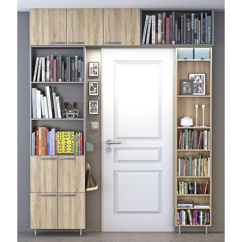 biblioth que spaceo home d cor ch ne leroy merlin. Black Bedroom Furniture Sets. Home Design Ideas