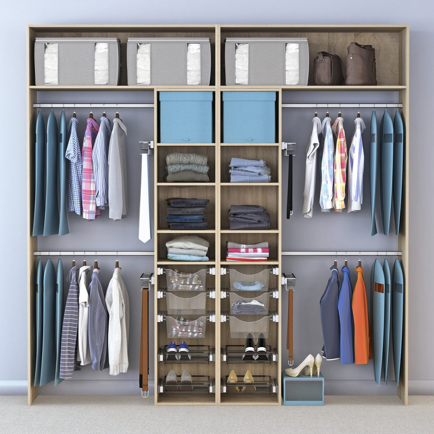 Dressing spaceo home effet ch ne leroy merlin - Leroy merlin dressing ...