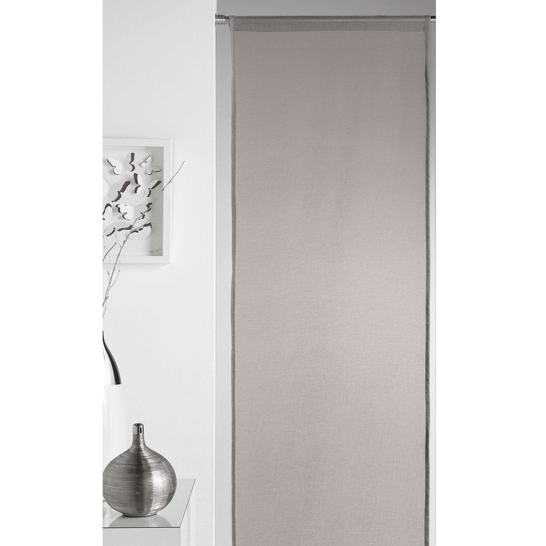 panneau japonais 5 mondes gris x cm leroy. Black Bedroom Furniture Sets. Home Design Ideas