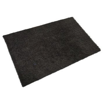 tapis shaggy lilou noir 170x120 cm leroy merlin. Black Bedroom Furniture Sets. Home Design Ideas