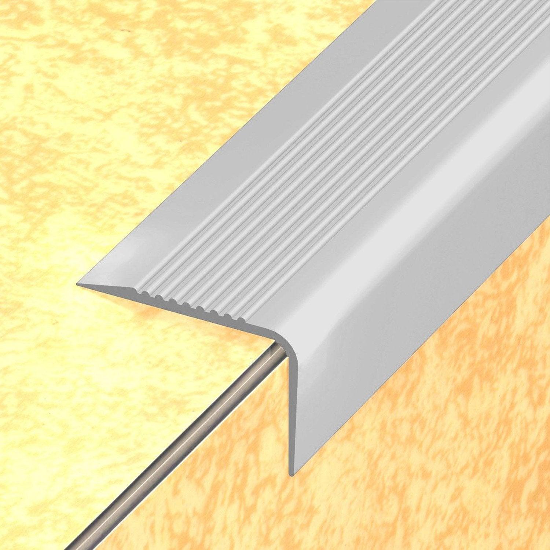 nez de marche en pvc coller dinac gris 65 170 cm leroy merlin. Black Bedroom Furniture Sets. Home Design Ideas