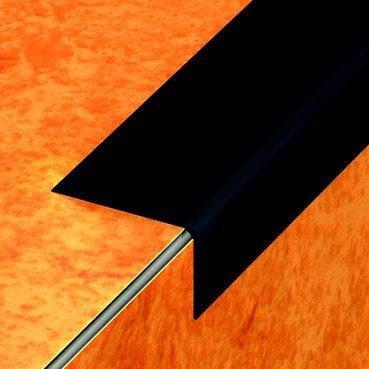 Nez de marche en pvc coller dinac noir 65 170 cm for Nez de marche carrelage leroy merlin