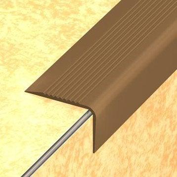 Nez de marche en pvc coller dinac marron 65 170 cm for Nez de marche carrelage leroy merlin