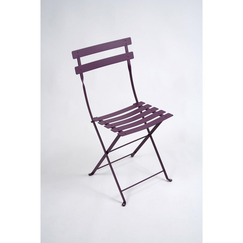 Chaise de jardin en acier 28 images 2 chaises de for Chaise longue jardin leroy merlin