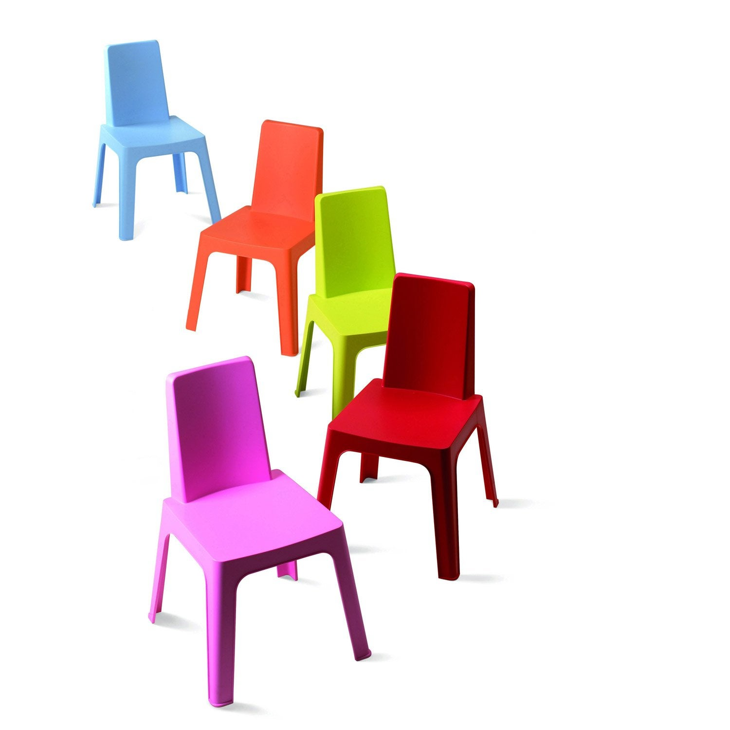 Chaise pour enfants en r sine inject e julieta panach for Salon de jardin de couleur