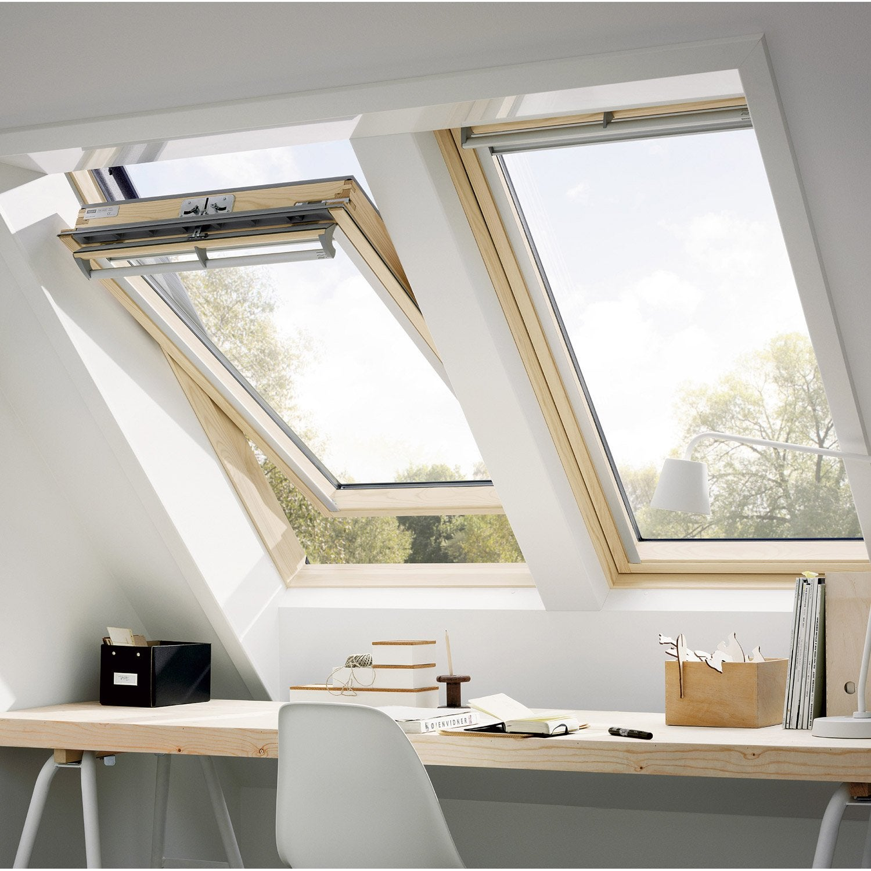 velux ggl sk06 tout confort par rotation 114 x 118 cm leroy merlin. Black Bedroom Furniture Sets. Home Design Ideas