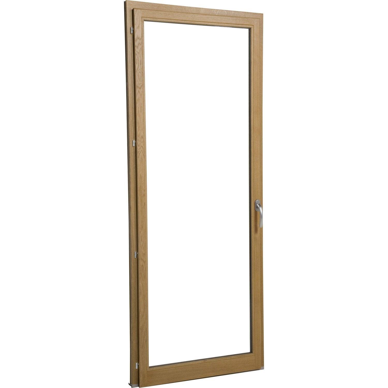 Porte fen tre bois brico essentiel 1 vantail ouvrant la for Porte fenetre ouvrant a la francaise