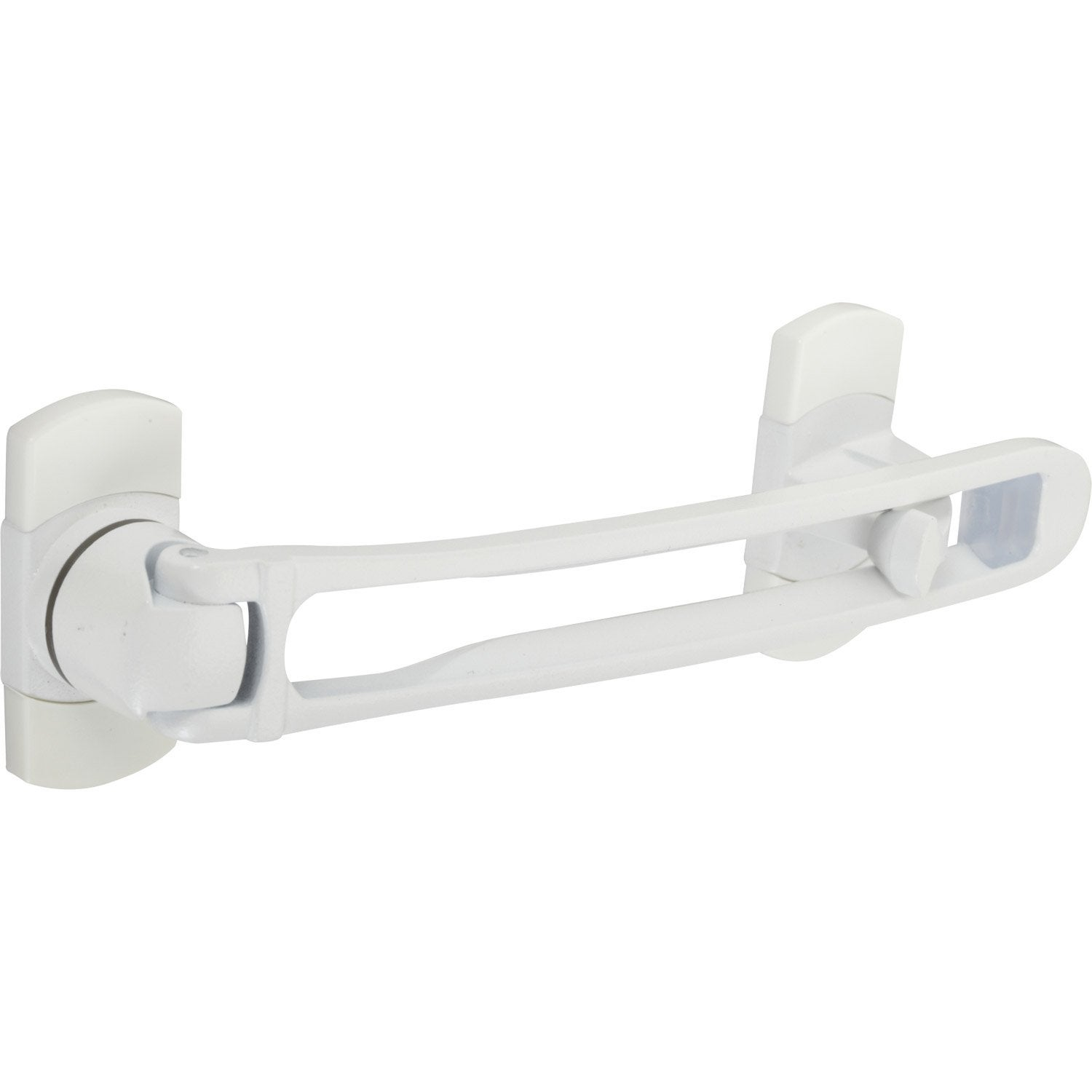 Entreb illeur de porte zamak blanc socona most leroy merlin for Bloque fenetre securite