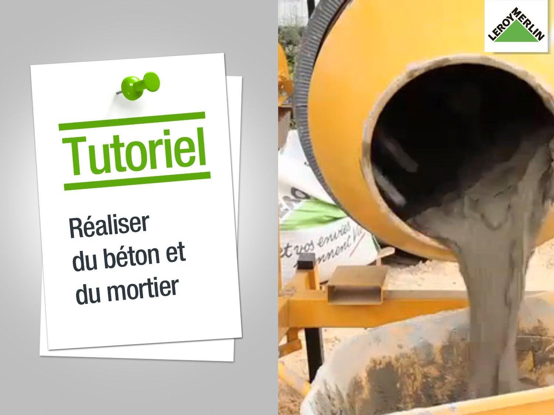 Dosage Béton Pour Dalle avec comment réaliser du béton et du mortier ? | leroy merlin