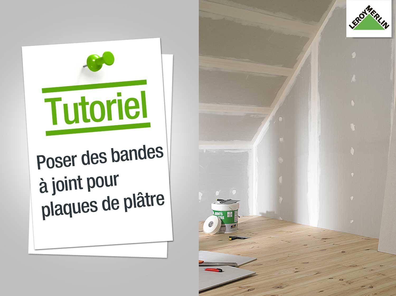 Réparer Un Plafond En Platre avec comment poser des joints de plaques de plâtre ? | leroy merlin
