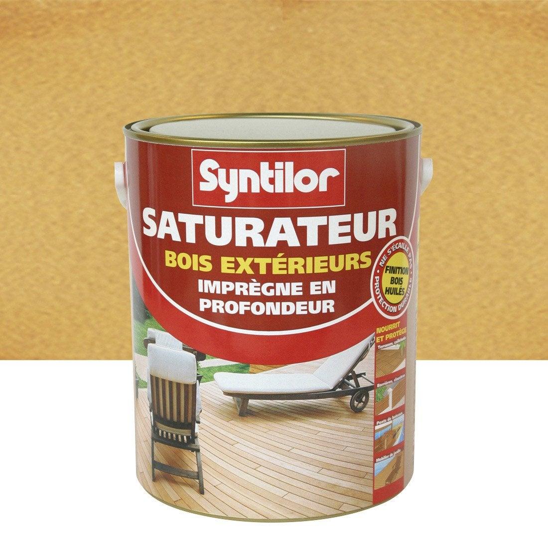 saturateur bois syntilor incolore aspect mat 2 5 l. Black Bedroom Furniture Sets. Home Design Ideas