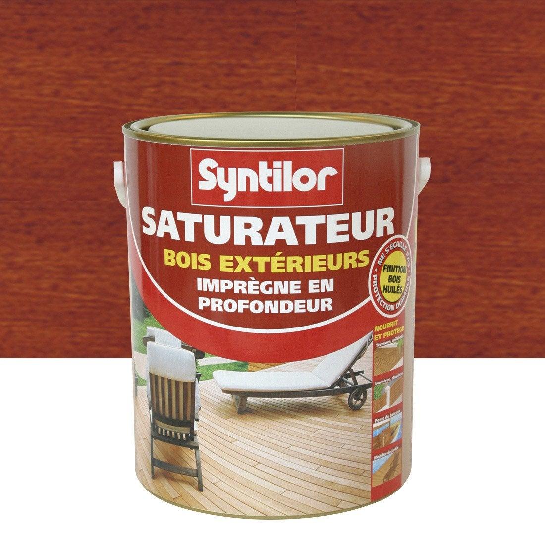 Saturateur bois SYNTILOR, bois exotique, aspect mat, 25 L  Leroy
