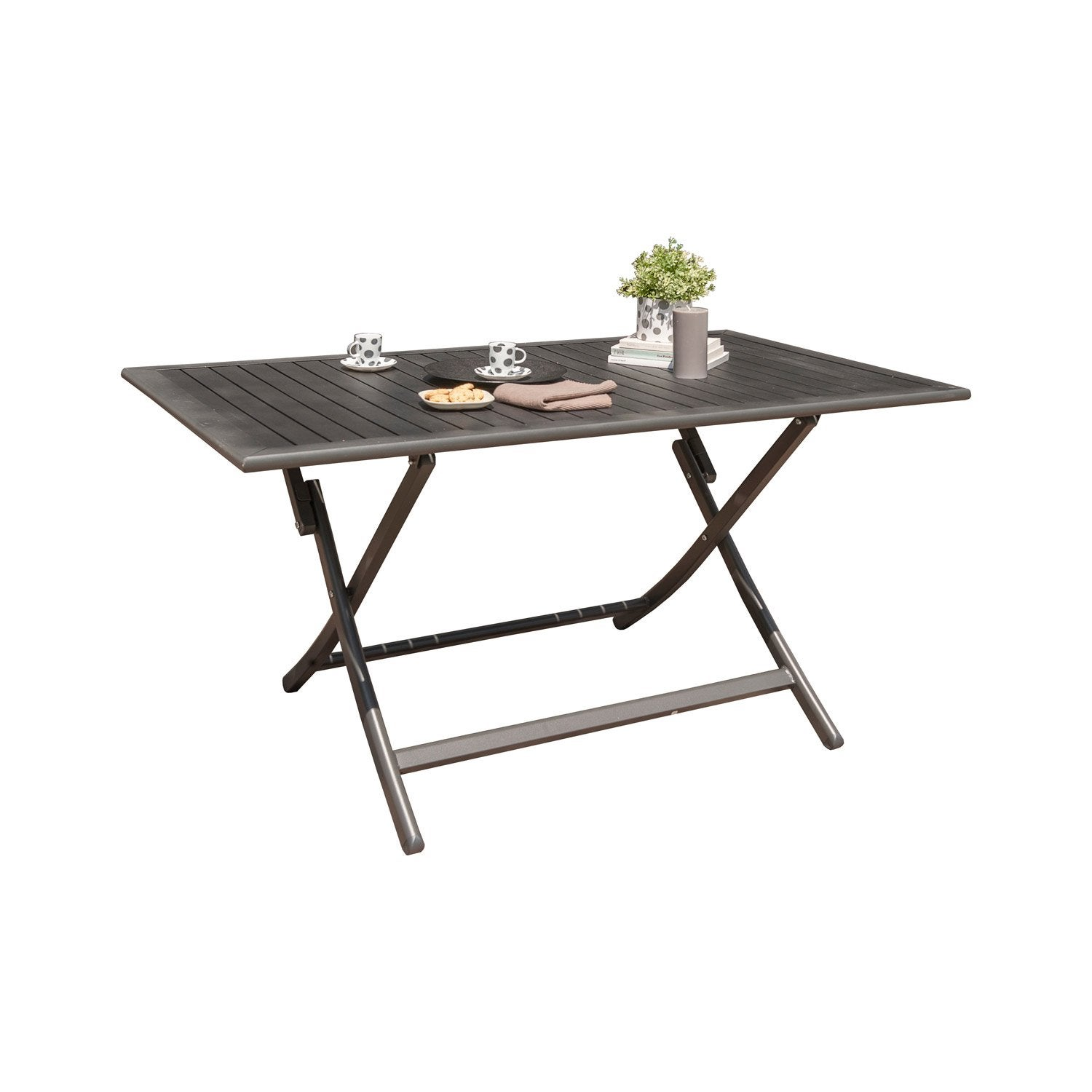 table de jardin miami rectangulaire gris anthracite 4. Black Bedroom Furniture Sets. Home Design Ideas