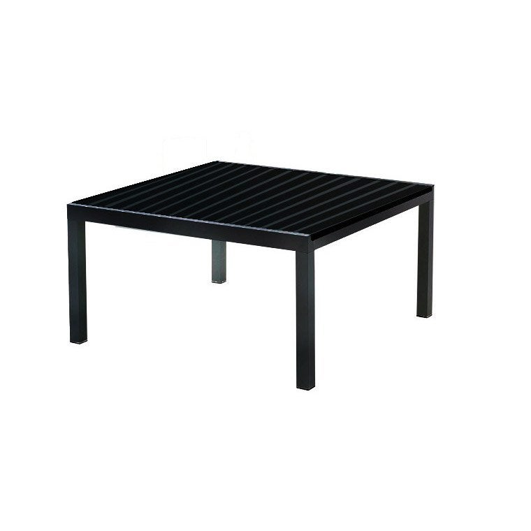 Table de jardin miami carr e noir 8 personnes leroy merlin for Table 3 personnes