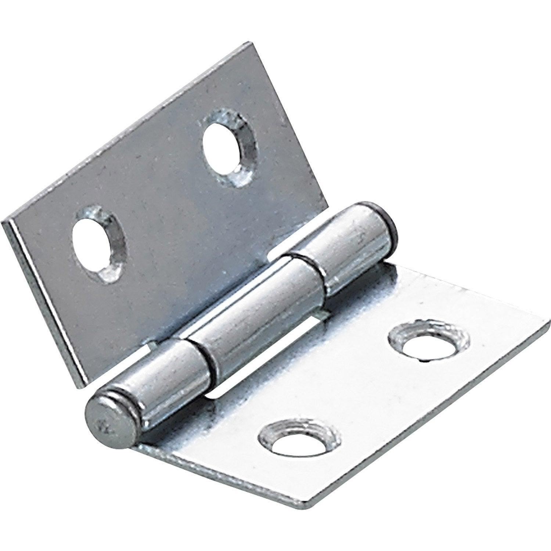 Charni re universelle acier pour lit x mm for Charniere pour lit escamotable