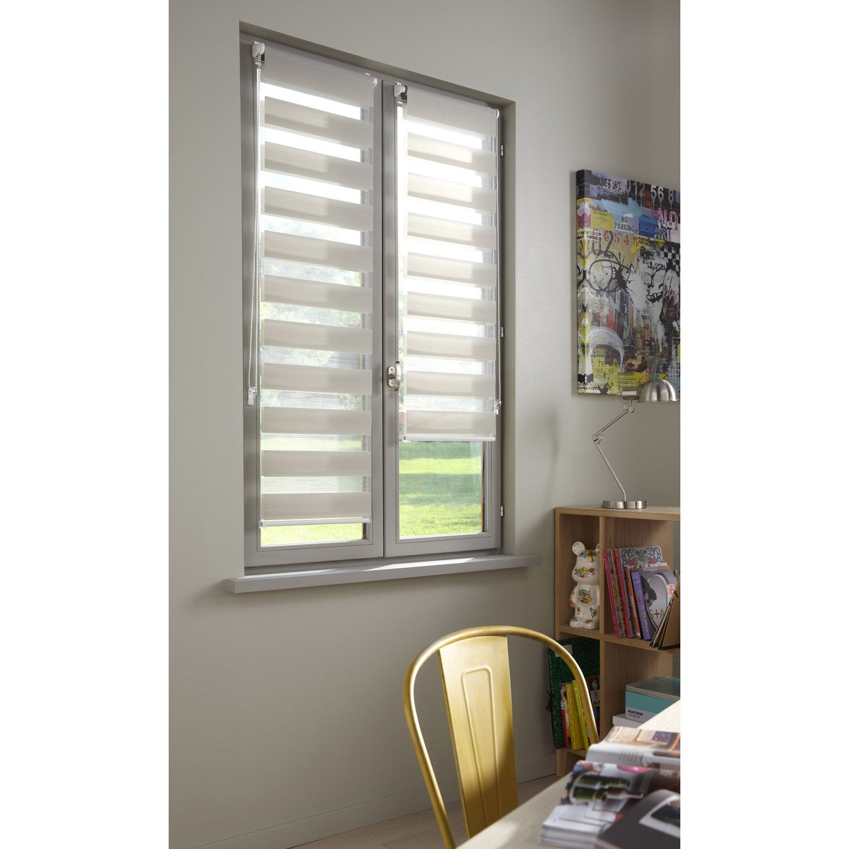 store enrouleur jour nuit inspire gris galet n 4 81 x 190 cm leroy merlin. Black Bedroom Furniture Sets. Home Design Ideas