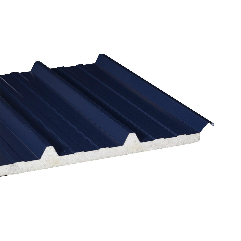 plaque nervur acier acier galvanis bleu ep 40 mm l 1 x. Black Bedroom Furniture Sets. Home Design Ideas