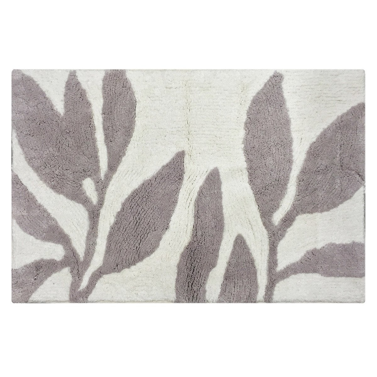 tapis de bain x cm gris poivr n 5 leaf sensea leroy merlin. Black Bedroom Furniture Sets. Home Design Ideas