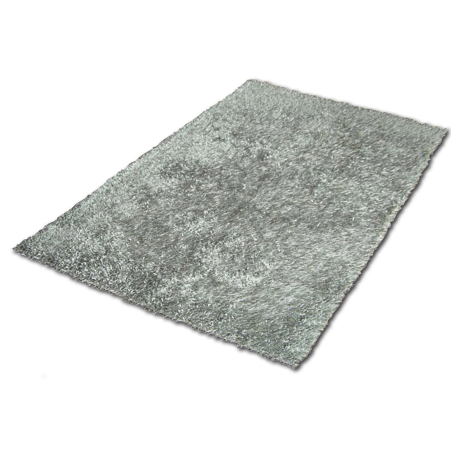 Tapis gris shaggy lilou x cm leroy merlin - Tapis shaggy vert anis ...